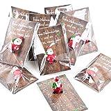 Logbuch-Verlag 10 Gastgeschenke Mini Nikolaus rot + Karte Frohe Weihnachten Mitgebsel Give-Away Weihnachten Silvester