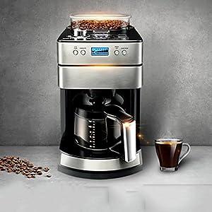 XINGQIANRU Coffee Machine For Domestic Use Automatic Commercial Coffee Machine Food Grade Stainless Steel Coffee Powder Dual-Use Coffee Machine (220 * 323 * 420Mm) by XINGQIANRU