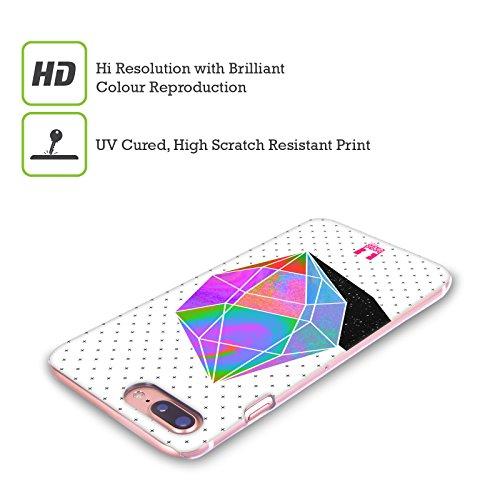 Head Case Designs Bellezza Arcobaleno Dipinto Cover Retro Rigida per Apple iPhone X Poligono