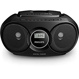 Philips AZ318B CD-Player (USB, MP3, Radio) schwarz