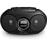 Philips AZ318B/12 - Radio portátil CD-MP3 (Radio FM, reproducción via USB para MP3), negro