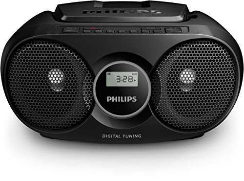 Philips AZ318B CD-Player (USB, MP3, Radio) schwarz (Mp3-cd-player Portable)