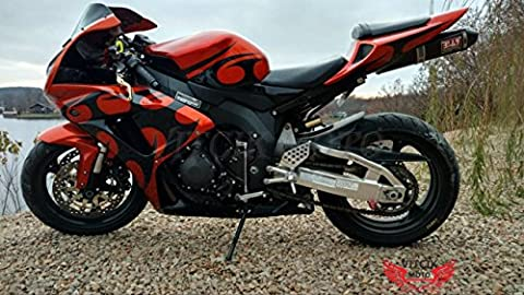 VITCIK (Fairing Kits Fit for Honda CBR1000RR 2006 2007 CBR1000 RR 06 07) Plastic ABS Injection Mold Complete Motorcycle Body Aftermarket Bodywork Frame(Orange & Black)