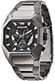 Police Hunter Men's Quartz Watch with Black Dial Chronograph Display and Grey Stainless Steel Bracelet 13837JSU/02M