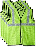 #5: Safari Pro 2' Inch Reflective Safety Jacket, Green, Mesh Type, Set of 5