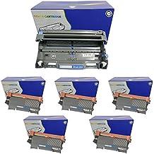 Tambor y Toner paquete: 5negro TN3170compatible Impresora Cartuchos de tóner + 1DR3100Unidad de tambor de repuesto para Brother DCP-8060, DCP-8065DN, HL-5240, HL-5240L, HL-5250, HL-5250D, HL-5250DN, HL-5250DNT, HL-5270, hl-5270d, HL-5270DN, HL-5280DW, MFC-8460N, MFC-8860DN, MFC- 8870DW