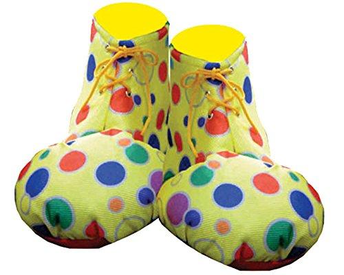 Dress up America - Adults Yellow Fundas de zapatos para payaso