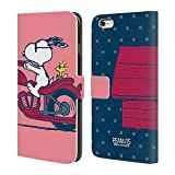 Head Case Designs Offizielle Peanuts Snoopy & Woodstock Halbzeiten Und Gelächter Brieftasche Handyhülle aus Leder für iPhone 6 Plus/iPhone 6s Plus