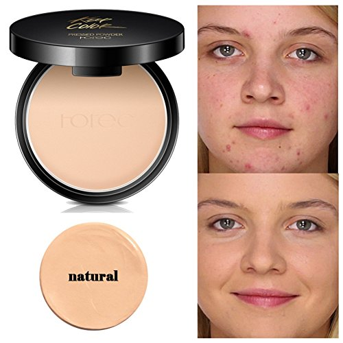 Mineral Pressed Face Powder,ROMANTIC BEAR Sleek foundation Creamy Concealer Base Makeup Powder Foundation Compact Powder (A1)