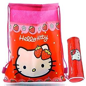 Hello Kitty: Estuche CILÍNDRICO + Bolsa