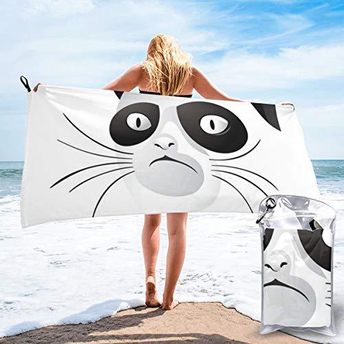 pants hats Cat Face Portrait Says No Grumpy Social Character Kitty Domestic Artful Image Bath Swimming Pool Yoga Pilates Picnic Blanket Beach Towels 31.5