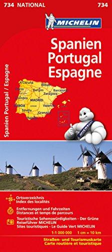Preisvergleich Produktbild Michelin Spanien / Portugal: Straßen- und Tourismuskarte (Michelin Nationalkarte)