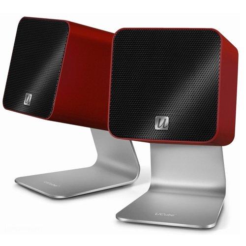 UltraLink UFi Ucube Tragbare Digital Lautsprecher USB 2.0 rot (Kabel Digital Ultralink)