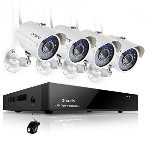 Zmodo ZMD-KHA8-YARUZ4ZP-1TB Telecamere Sistema Sicurezza Casa con 1TB, 4 700TVL IR