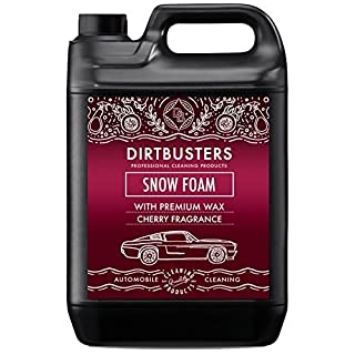 Dirtbusters car candy snow foam shampoo cleaner with high gloss wax and cherry candy fragrance 5 litre for professional cleaning and valeting (1)