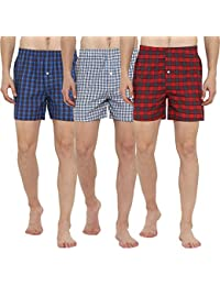 Lucky Roger Mens Checked Boxers(Pack of Three)