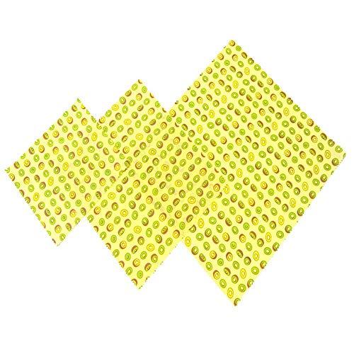 PIPIJIA Lebensmittelqualität Bienenwachs Wraps, Bio-Mehrweg-Lebensmittel Wraps, umweltfreundlich, nachhaltig, biologisch abbaubar, Lagerung von Lebensmitteln Alternative zu Plastikfolie - 3 Stück (Wrap Papier Lagerung)