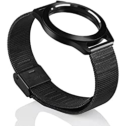 Mallom Steel Wristband Strap Bracelet Sleep Fitness Monitor For Misfit Shine Black