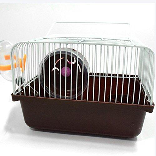 DAHAI FU 1 STÜCK 1 STÜCK Mini Idyllischen Kleinen Käfig Hamsterkäfig Nest Schüssel Rad Wasserkocher Unterstützung Für Kleine Haustier Nest Hamster Mauskäfig (COFFEE)