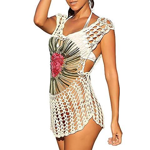 Swim Coverup , iBaste Women's Hook Flowers Swimsuits Kimono For