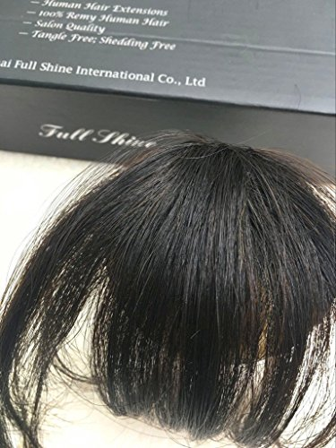 Full Shine Air Fringe Bangs Clip in Hair Extensions Front Neat Bang Fringe One piece #2 Fringe Pony