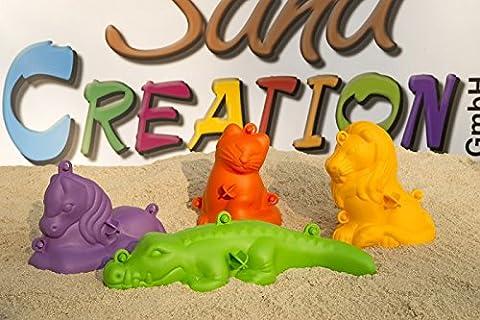 3D Sandformen Sandfiguren, 4 Stk.