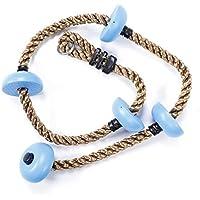 Fdit 1,8 m Escalada Cuerda Columpio con Plataformas Cinco Anudadas Disco Cuerda Cuerda Niños Deportes Al Aire Libre Equipo de Entrenamiento para Niños(Azul)