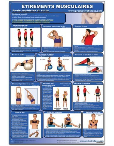 Etirements Musculaire - Partie superieure du corps - Affiche - Stretching Upper Body (French Edition) CSUL-FR (Poster) by Andre Noel Potvin (2008) Paperback
