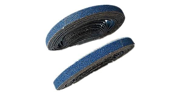 10 pezzi 330X10mm carta abrasiva allossido di alluminio blu 40-120 grana lucidatura carta abrasiva disco abrasivo disco nastri abrasivi per levigatrice 10 pezzi 60gr