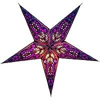 Estrella de papel / estrella de Navidad, tamaño pequeño, color violeta, estrella de papel