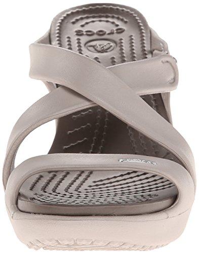 crocs Cyprus 4, Damen Sandalen Grau (Platinum/Pewter)