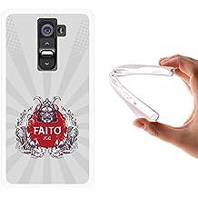 Funda LG G2, WoowCase [ LG G2 ] Funda Silicona Gel Flexible Guerrero Japones, Carcasa Case TPU Silicona - Transparente