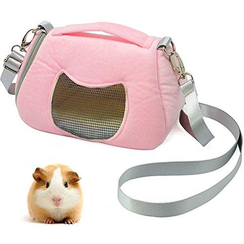 asocea Kleine Pet Außen Tasche Atmungsaktiv Travel Handtaschen für Igel Hamster Eichhörnchen Chinchilla (Hamster Tasche)