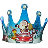 Planet Of Toys 10 Pieces Set Fun Christmas, Parties, Celebrations Tiara, Crown, Headband (With LED Lights)