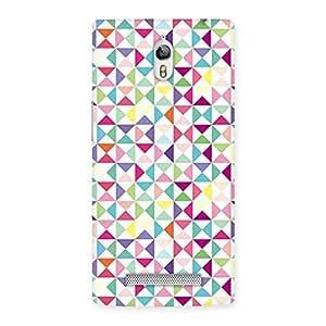 Special Trangel Color Print Back Case Cover for Oppo Find 7