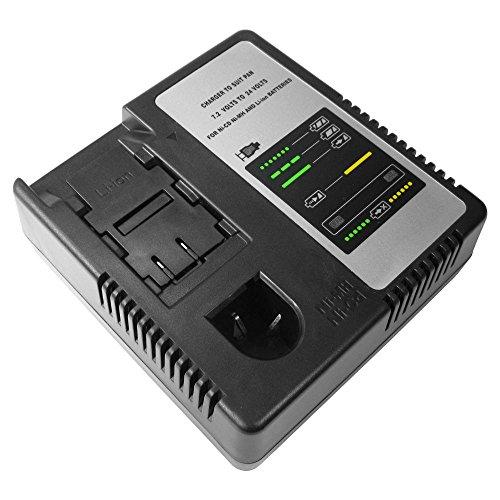 Universal Ni-MH Ni-Cd Li-Ion Akku Ladegerät 7,2V-24V Ladestation Schnellladegerät ersetzt Panasonic National LGPA1230 EY0005 EY0214 EY0110 EY0110B EY0005B EY0214B EY0230 für 48-11-0080 EY9065 EY9001EY9005 EY9006 EY9065EY9066B (Panasonic National)