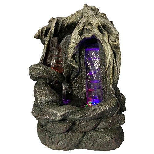 Zen'Light SCFR156 Fantasy Fontaine Nature Marron Pierre/Bois 27 x 19 x 36 cm