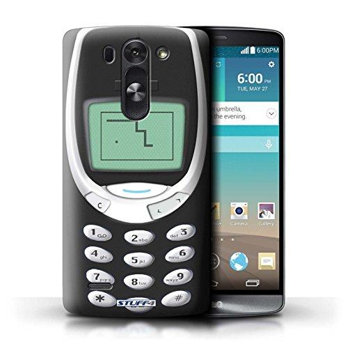 Kobalt® Imprimé Etui / Coque pour LG G3 S (Mini)/D722 / Nokia 8210 vert conception / Série Portables rétro Noir