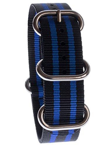 yves-camani-uni-radisson-montres-de-20-mm-de-bracelet-de-lotan-en-nylon-avec-noir-bleu-neuf