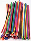 Kids B Crafty New 100 x Felt High Density Chenille Craft Pipe Cleaners 30cm x 4mm 10 Assorted Colours