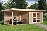 weka Designhaus 126 A Gr.2, natur, 28 mm, DT, Anbau 300 cm, ohne RW