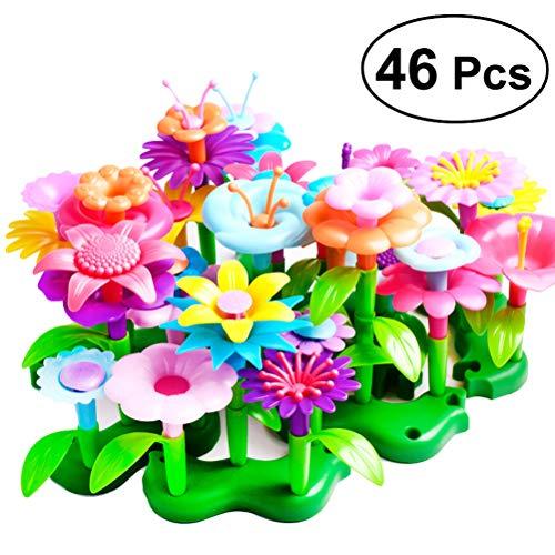 YeahiBaby Blumenarrangement Spielzeug Kreatives Spielset für Kinder 46 Stück (Zufällige Farbe)