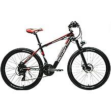 Rico Bit® Nuevo actualizado rt-800bicicleta eléctrica para bicicleta de montaña bicicleta Ciclismo integrado Suspensión Ion de litio calidad marco de aleación de Alluminum Shimano 7speeds 7marchas rojo