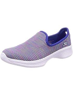 Skechers Go Walk 4-Select, Zapatillas sin Cordones para Niñas
