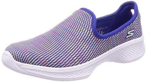 Skechers Mädchen Go Walk 4 - Select Slip On Sneaker, Blau (Blue/Multicoloured), 28 EU