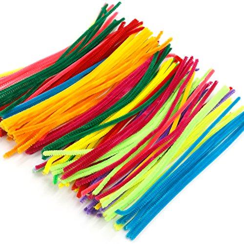 trixes-lot-de-100-tiges-de-differentes-couleurs-chenille-bricolage-nettoyage-de-tuyaux-artisanat
