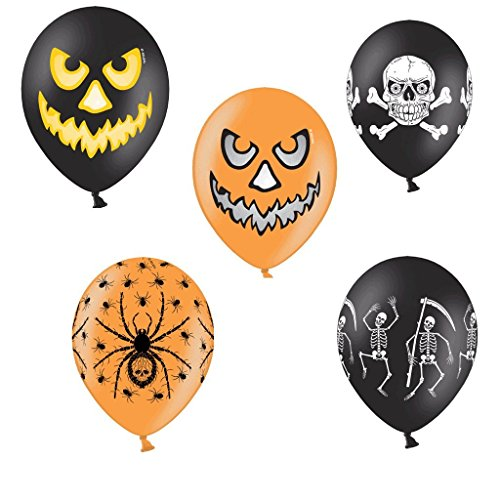 Halloween Motiv - Heliumgeeignet - Halloween Mix - Luftballons Deko Party Halloween Fasching- Heliumgeeignet - Top Qualität - twist4® (Halloween-party-mix)