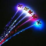 Kicode 5 Satz Neuheit Blinkt Haar-Flechten LED-Bunte Schmetterling für Parteien Jubeln Neuheit Spielzeug-Geschenk für Ki