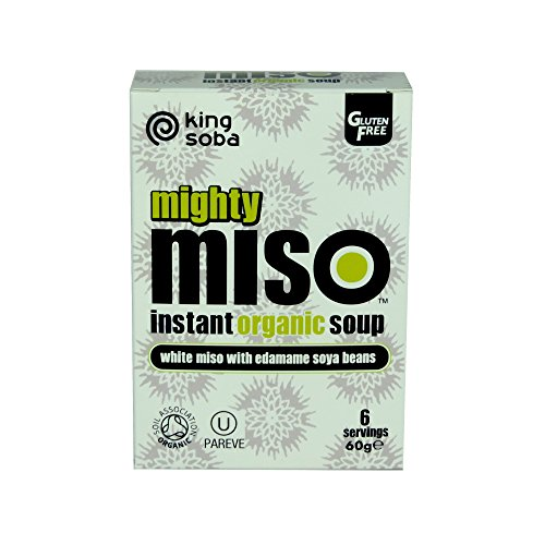 King Soba Organic Gluten Free Miso Soup with Edamame Beans 60g