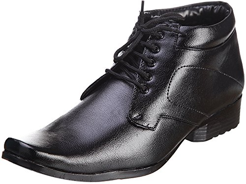 Kraasa Men's Black Patent Leather Formal Shoes- 7 K-781-Black-7